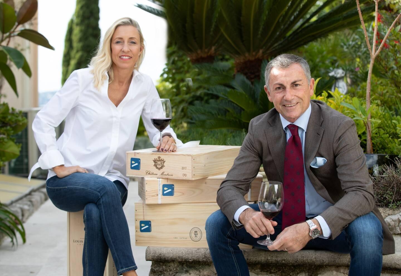Ingrid Brodin, pdg de Vindome basée à Monaco, et son mari, Mario Colesanti, attachent une grande importance à l'authenticité des vins proposés à l'achat ou la revente sur leur plateforme.