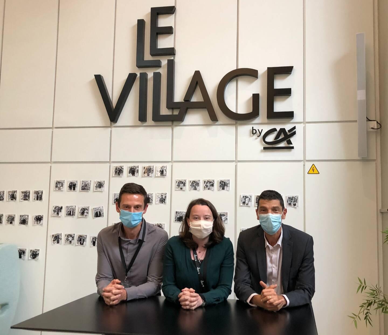 Depuis trois ans, l'équipe du Village by CA PCA – Aurélien Lallemant, Marie Nghiem et Jean-François Richardoz – accompagne les startups de tous secteurs.
