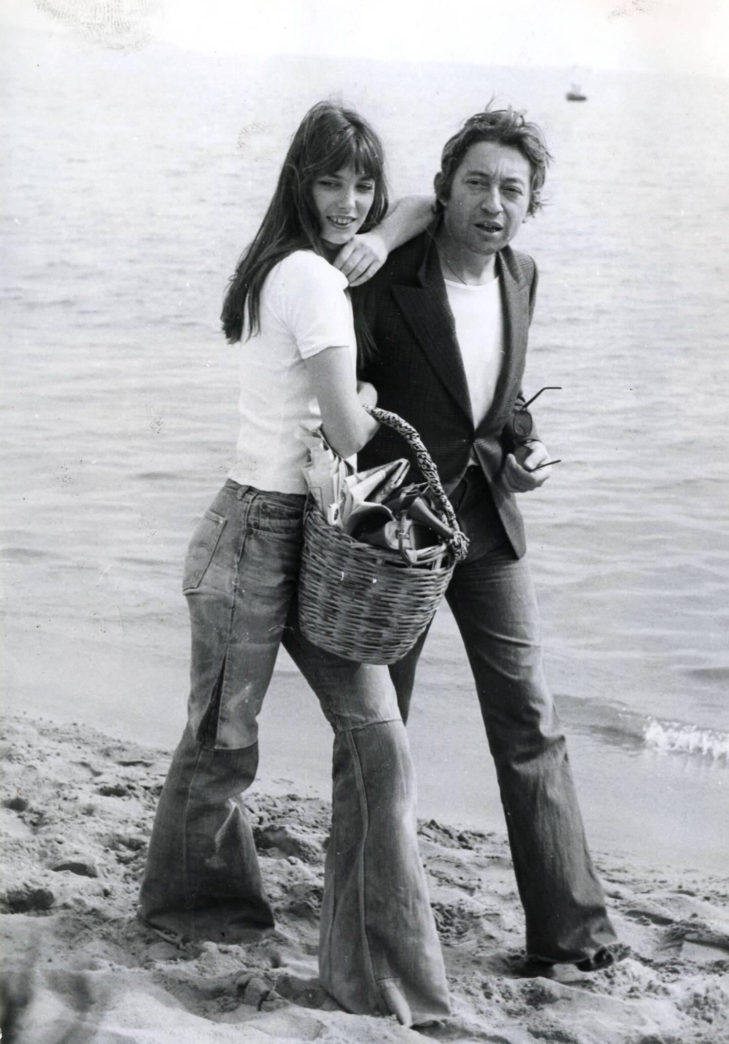 Jane Birkin et Serge Gainsbourg à Cannes, en mai 1974.