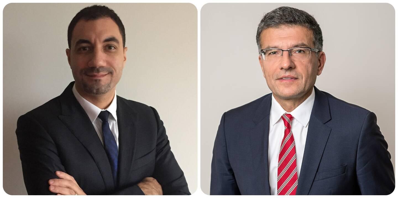 Geoffroy Berthelot et Daniel Valdman, respectivement mandataire et administrateur judiciaires.