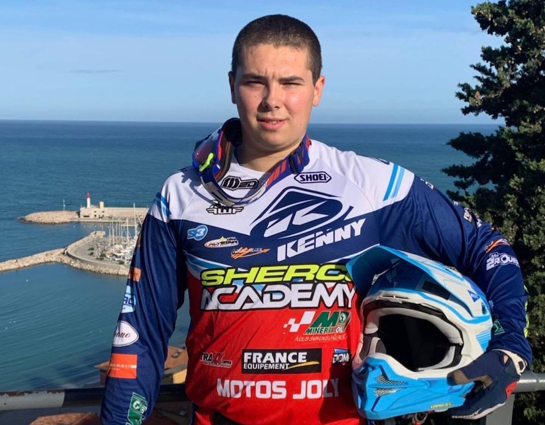 Bruno Mammone jeune coureur émérite en enduro extrême.
