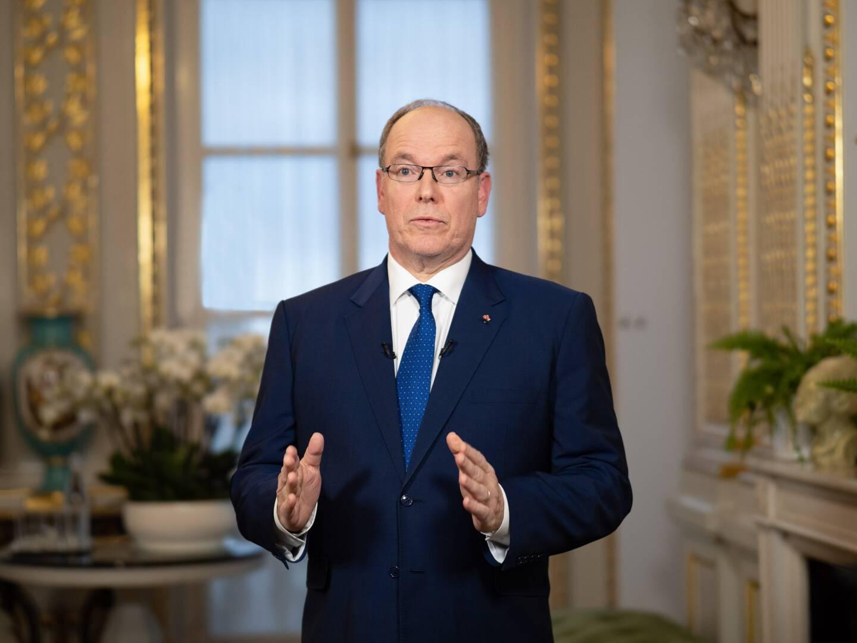 Le souverain a enregistré depuis les salons du Palais princier son allocution jeudi, en milieu d'après-midi.