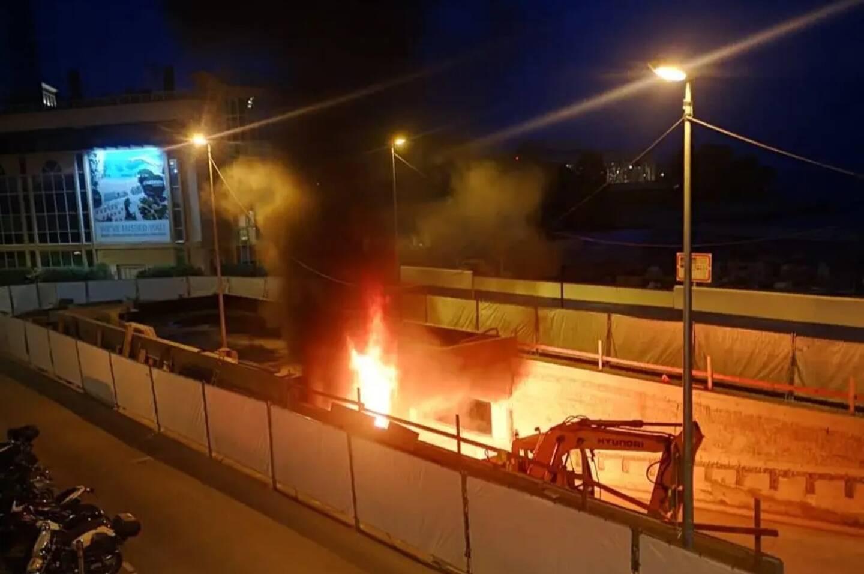 Le feu s'est déclenché peu après 21 heures, ce jeudi soir.