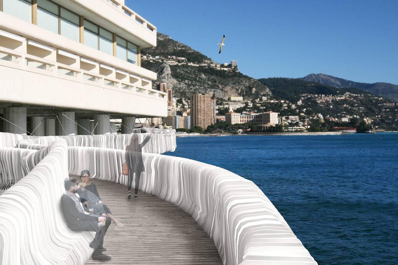 Un chemin piéton au-dessus de la mer pour éviter de marcher sous le tunnel Louis-II: c'est la volonté de l'association qui a développé ce projet innovant et esthétique.