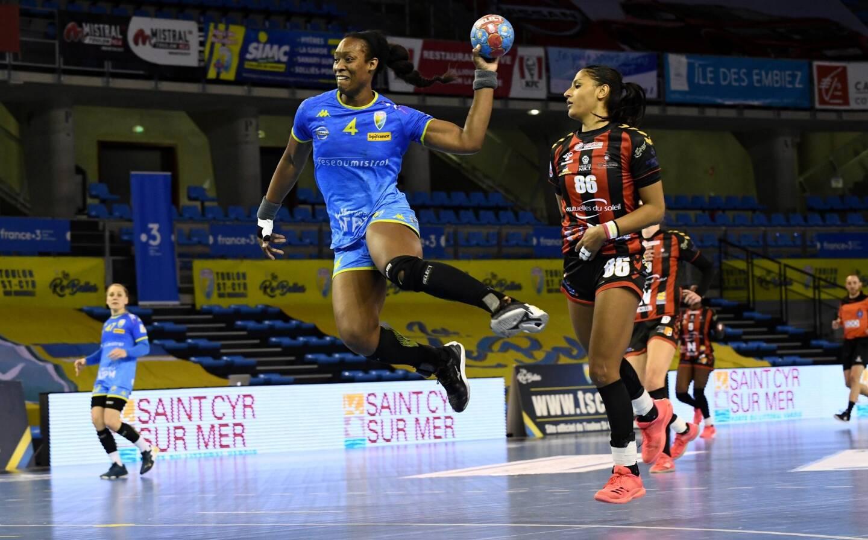 La Rebelle Marie-Paule Gnabouyou, mercredi soir face à Nice lors de la 12e journée en retard de la Ligue féminine de handball, évoluera avec les Aiglonnes dès la saison prochaine.