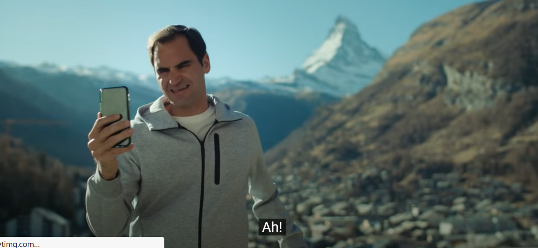 Quand Roger Federer essuie un vent de Monsieur De Niro. Savoureux.