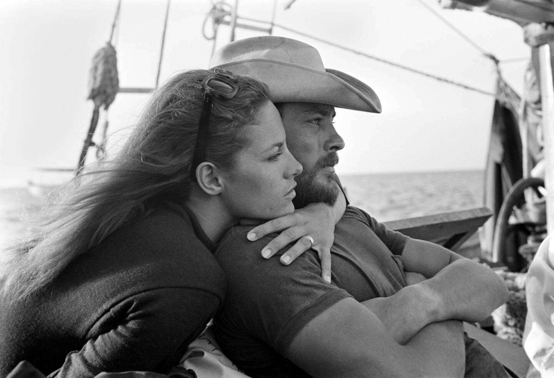 Nathalie et Alain Delon en 1966.