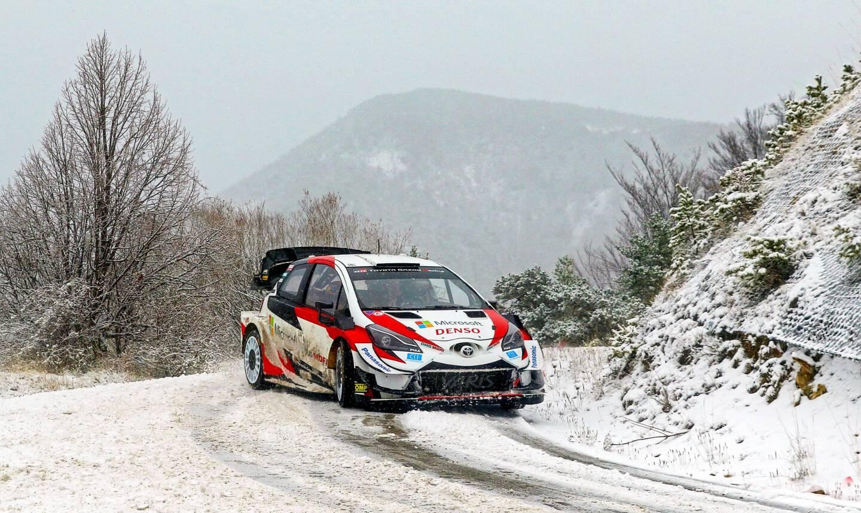 Sébastien Ogier a déjà affiné les réglages de sa Toyota Yaris début décembre dans les Hautes-Alpes.