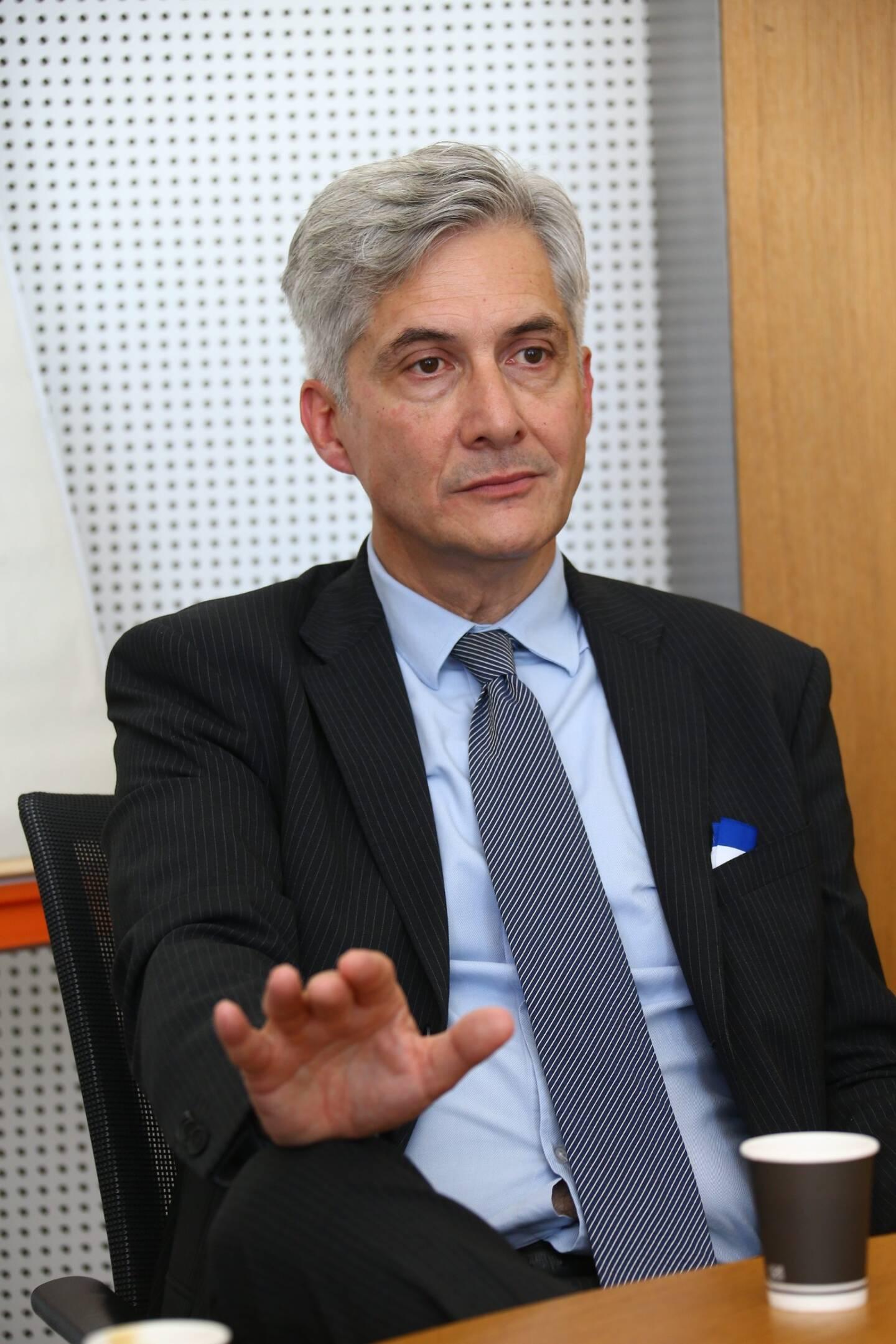 Yves Servant, directeur de l'hôpital de Cannes.