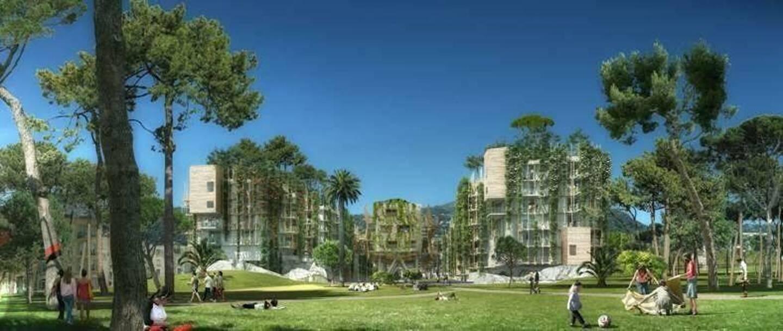 Espaces verts et constructions en bois sont l'avenir du logement (ici le projet du Ray à Nice)