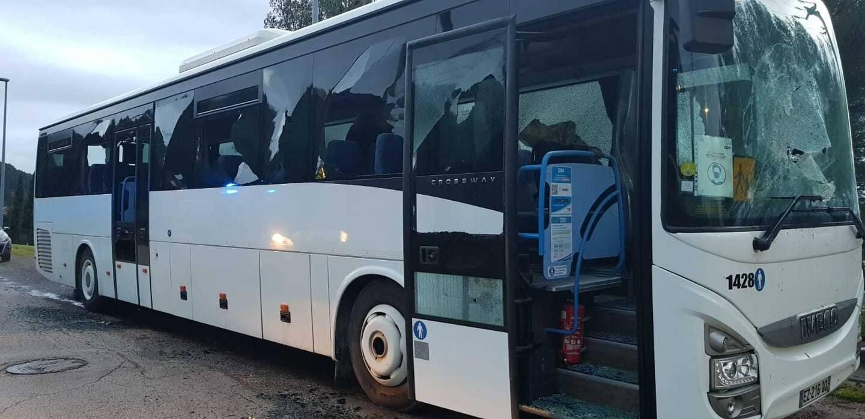 Un groupe de jeunes a cassé des vitres et vidé les extincteurs dans la cabine