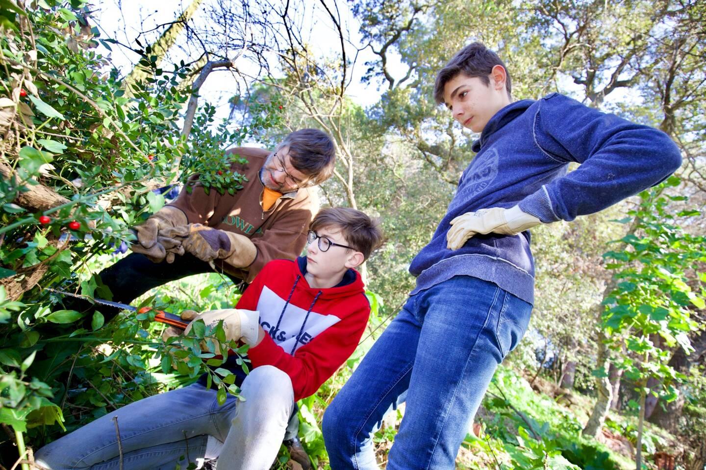 Les adolescents attentifs se sont mis à la tâche avec entrain, grâce à leur tuteur.