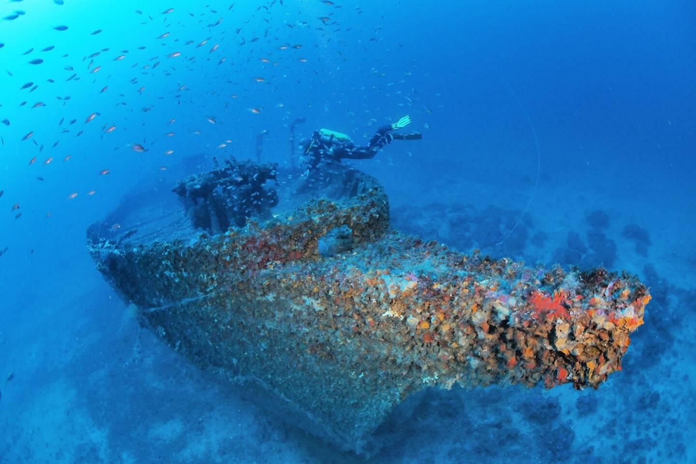 Pour visiter le Alain, mieux vaut avoir un très bon niveau de plongée, se trouvant à 80 mètres de profondeur.