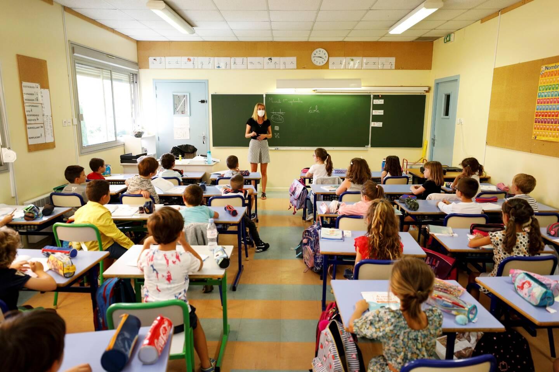 Illustration d'une classe dans l'académie de Nice en 2020.
