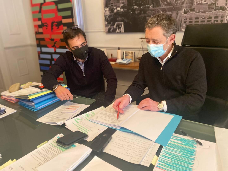 Me Mathurin Lauze et Me Philippe Soussi, avocats de Denis Delaup