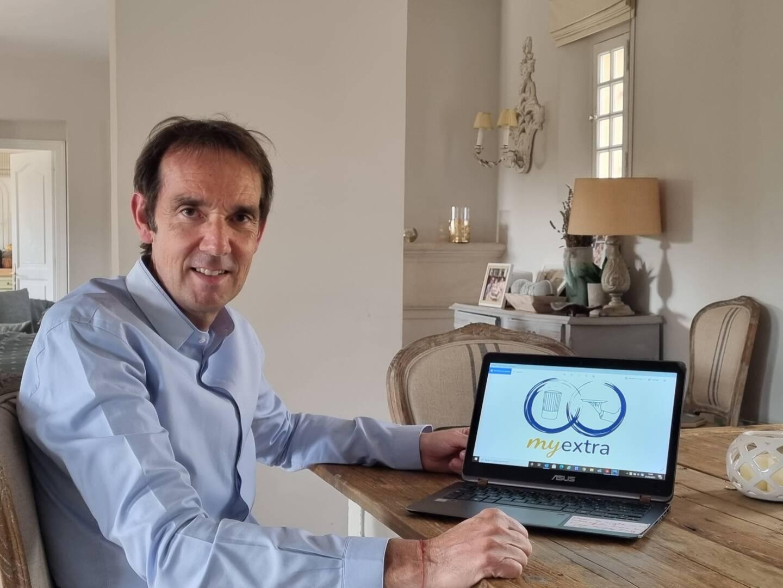 """Marc Dussoulier, patron du restaurant Le Plongeoir à Nice, et créateur de """"My Extra""""."""
