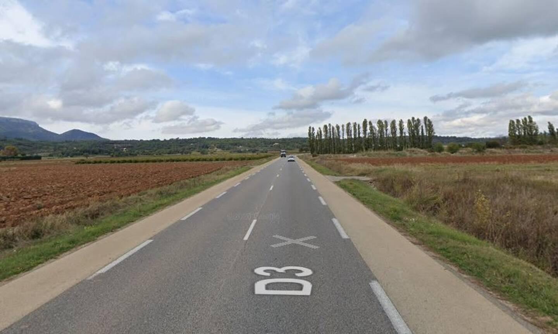 L'accident s'est produit sur cette route de Saint-Maximin.