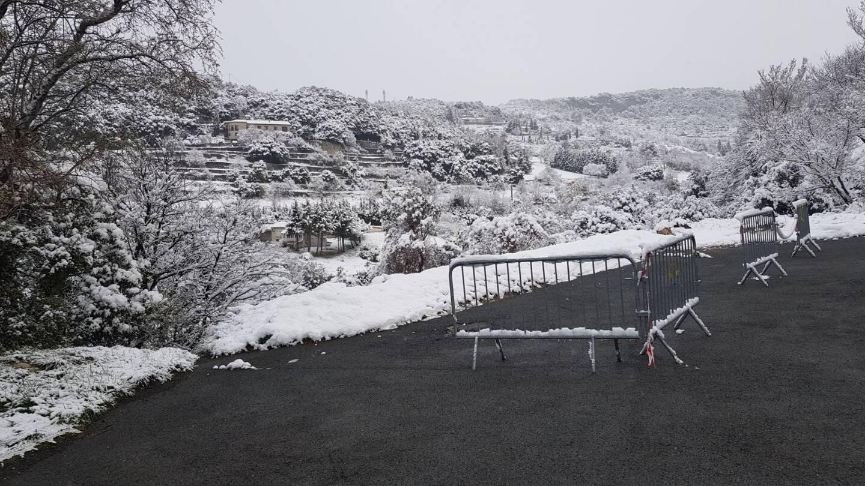 Neige à Mons.