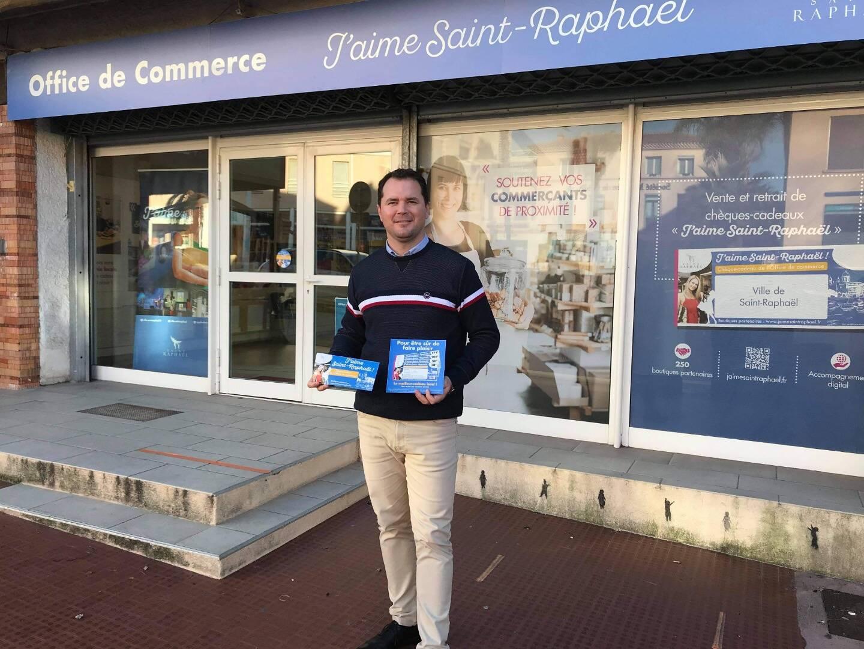Yoann Cousin, manager du centre-ville de Saint-Raphaël, peut s'appuyer sur le nouvel office du commerce. Il sera aussi bientôt assisté par deux nouveaux équipiers.
