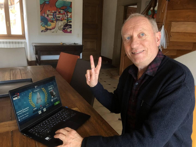 À 65 ans, Jean-Claude Goudon a réalisé l'exploit de remporté la simulation en ligne de la course la plus prestigieuse du monde.
