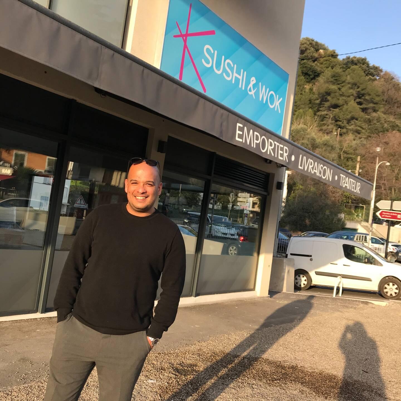 David Adet, un des associés de Sushi&Wok, en passe d'ouvrir un restaurant à Saint-Isidore.