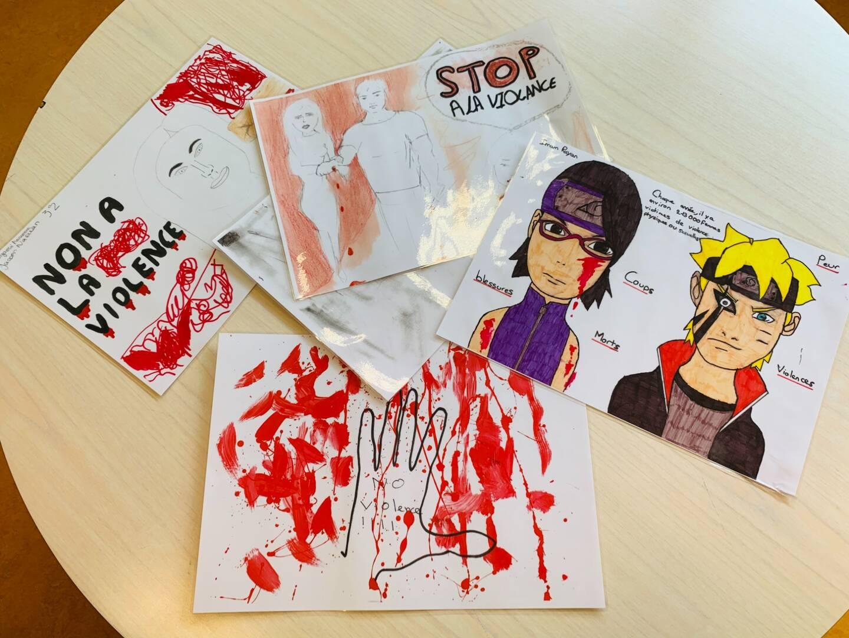 Les élèves du conseil de vie collégienne de La Marquisanne ont proposé une exposition sur la lutte contre les violences faites aux femmes.
