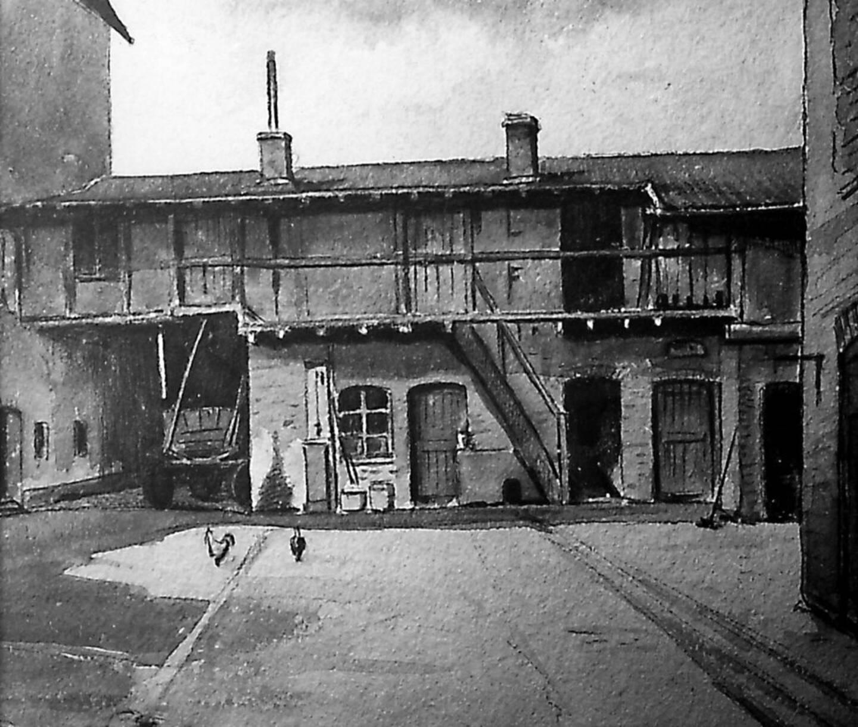 Les premiers locaux, dans l'arrière-cour d'une buanderie à Bonn.