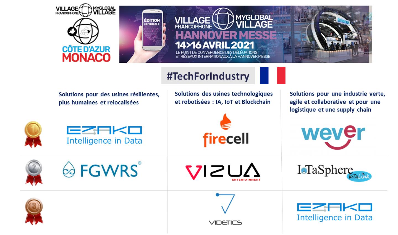 A la Grand-messe de la tech et de l'industrie (foire d'Hanovre), le Village francophone Côte d'Azur Monaco a participé au rayonnement de nos startups.