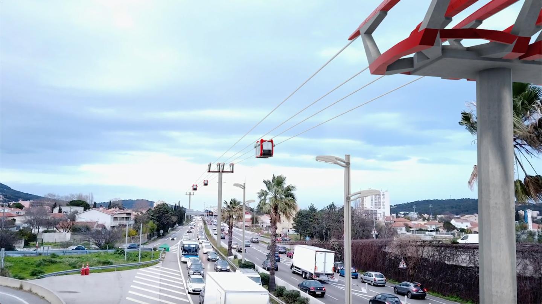 Dans la ville de demain, la question du transport est prépondérante et ses réponses devront être novatrices. En mars 2020, un candidat à l'élection municipale de La Valette dans le Var proposait la création d'un téléphérique urbain,qui relie Toulon à La Garde.