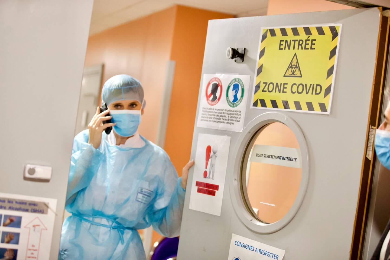 Une zone Covid à l'hôpital Bonnet de Fréjus.