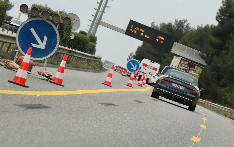 Le chantier d'élargissement de l'A57 à deux fois trois voies a démarré fin avril.