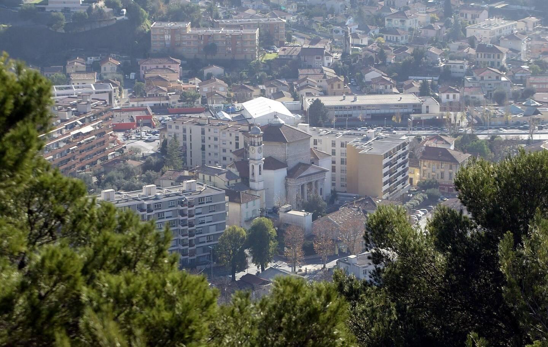 La commune de La Trinité, au sein de la Métropole Nice Côte d'Azur.