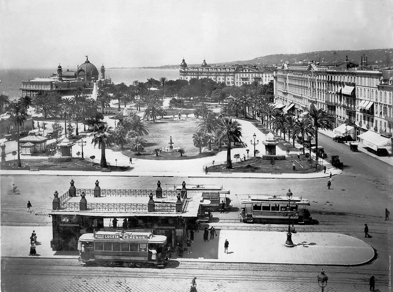Le jardin Albert-Ier (ici, en 1925), par où la tornade entra dans la ville.