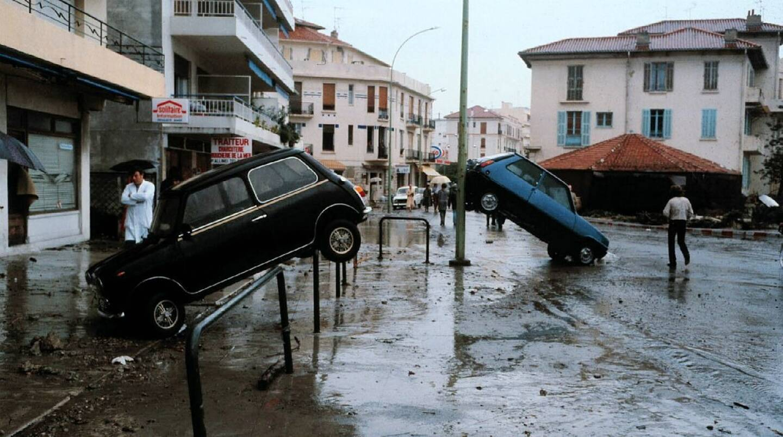 Antibes après le tsunami de 1979.