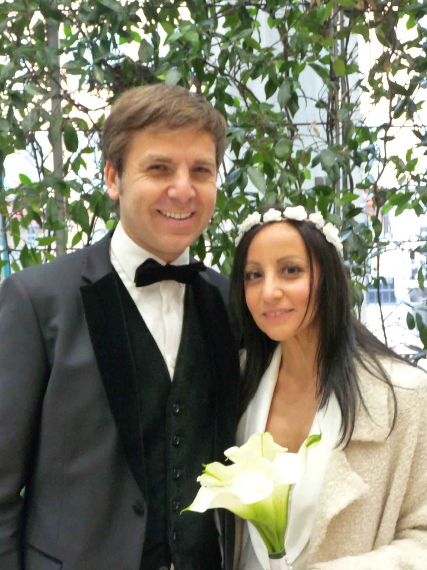 Stéphane Visona, directeur opérationnel, et Takfa Hilmi, comptable.