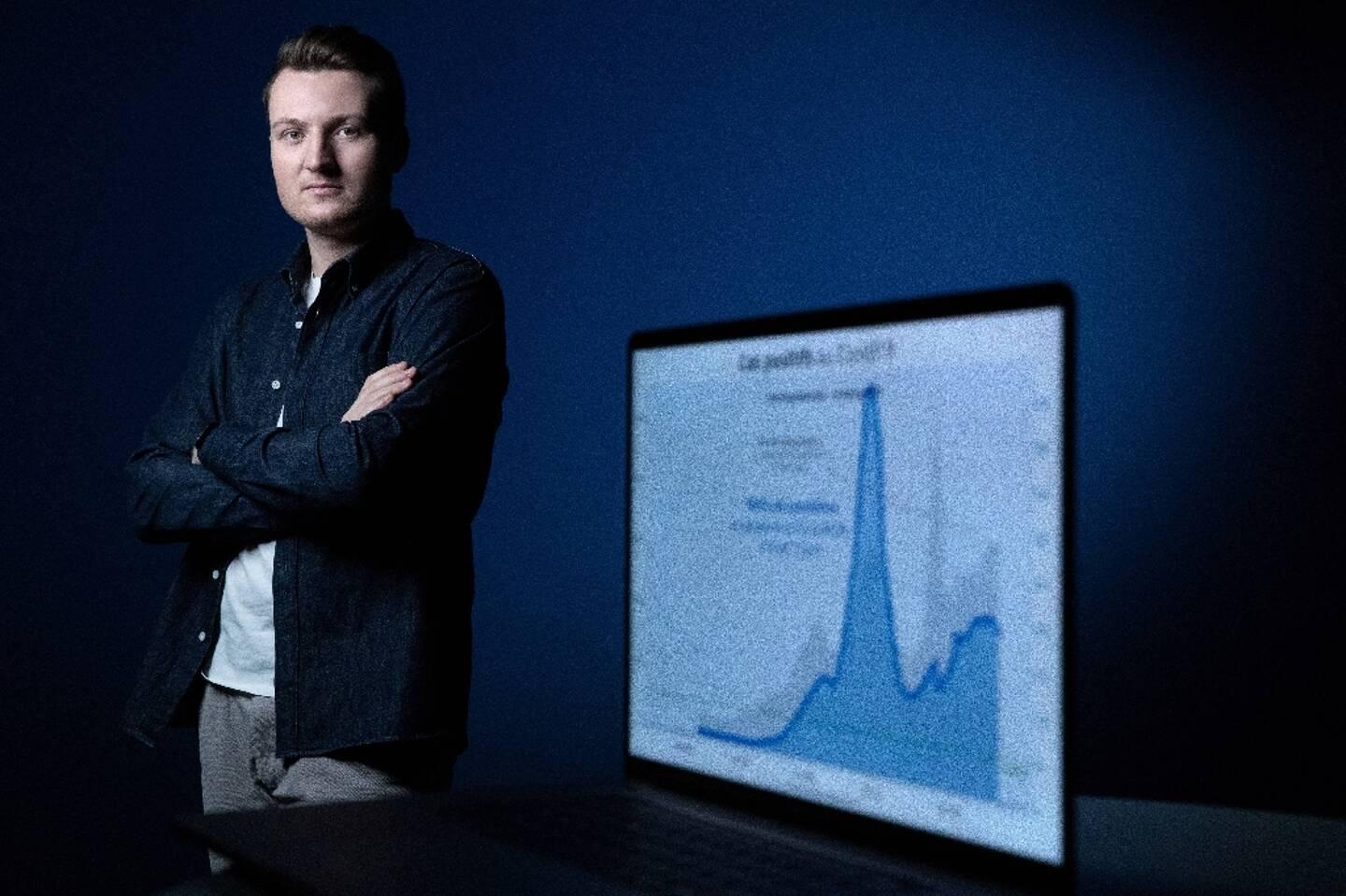 Guillaume Rozier, créateur des sites Vitemadose et de Covidtracker, le 12 février 2021 à Paris
