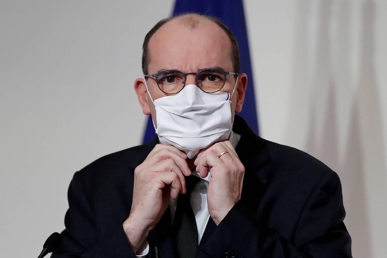 Jean Castex lors d'une conférence de presse à Paris le 9 décembre 2020
