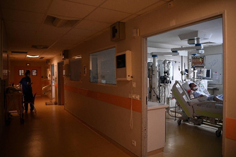 Service de réanimation à l'hôpital de Bry-sur-Marne le 15 avril 2021