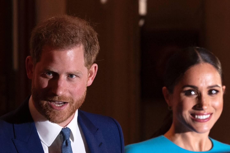 Le prince Harry et son épouse Meghan Markle en mars 2020 à Londres