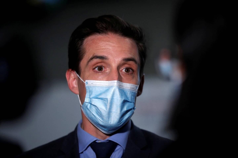 Le ministre des Transports Jean-Baptiste Dejebbari, le 5 février 2021 à l'aéroport de Roissy
