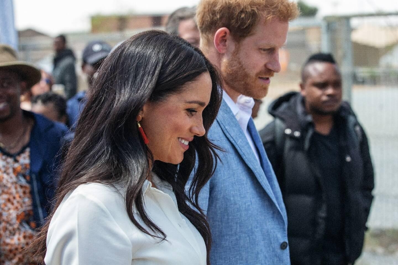 Le prince Harry et Meghan Markle à Johannesburg, le 2 octobre 2019