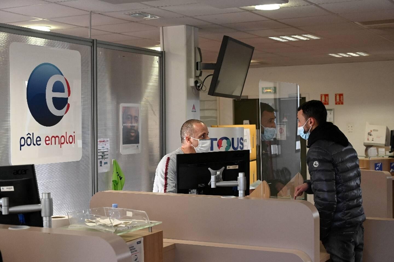 Agence Pôle emploi à Marseille, le 14 décembre 2020