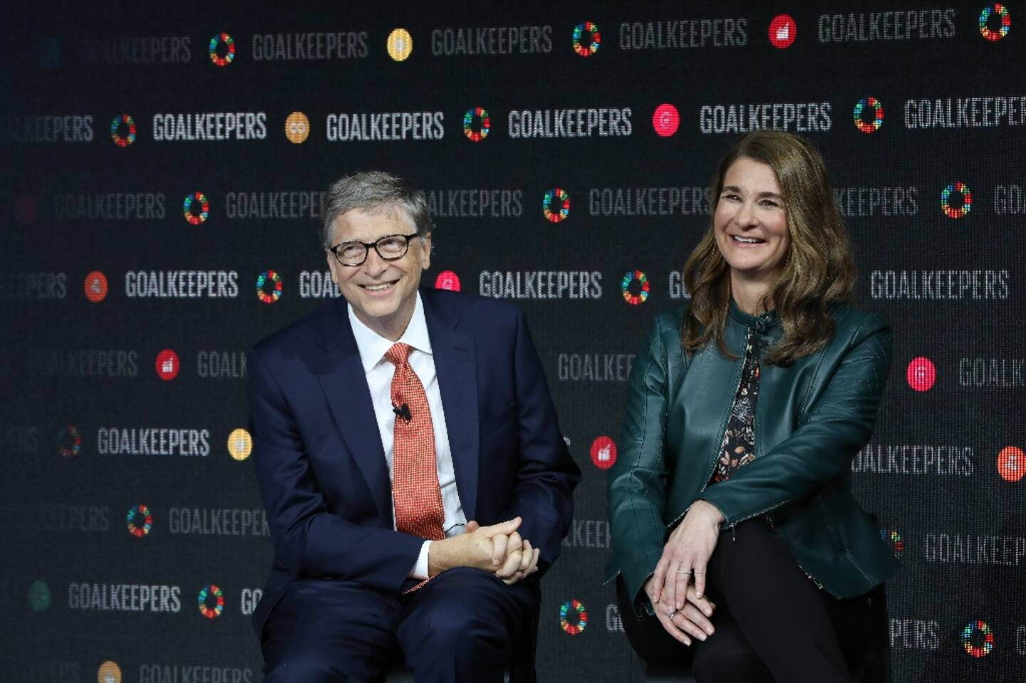 Bill et Melinda Gates lors d'un événement au Lincoln Center, à New York, le 26 septembre 2018