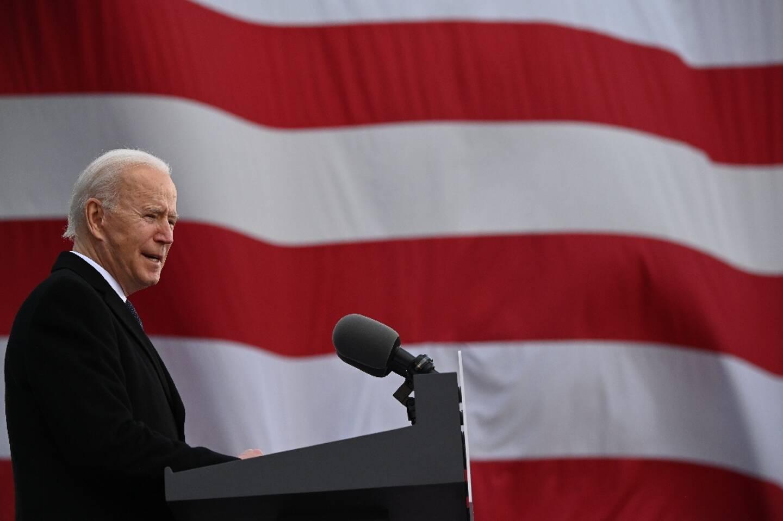Joe Biden le 10 janvier 2021 à New Castle, dans le Delaware