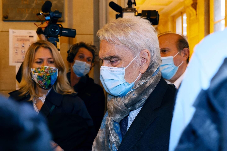 Bernard Tapie, le 12 octobre 2020 à son arrivée au palais de Justice de Paris