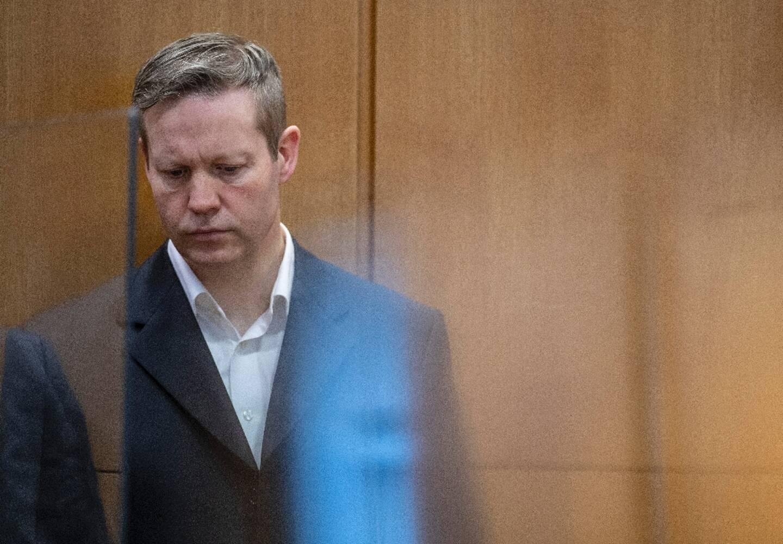 Stephan Ernst, meurtrier présumé de Walter Lübcke, au tribunal lors de son procès à Francfort, le 14 janvier 2021