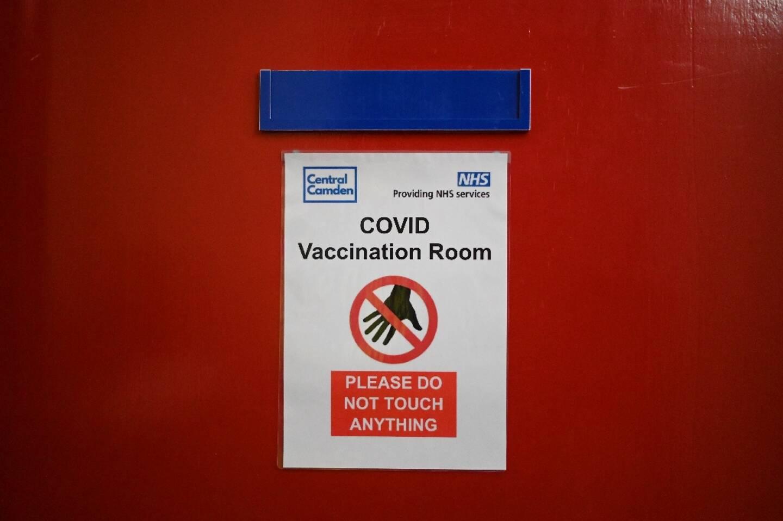 Signalétique dans un centre de vaccination de Londres le 5 juin 2021