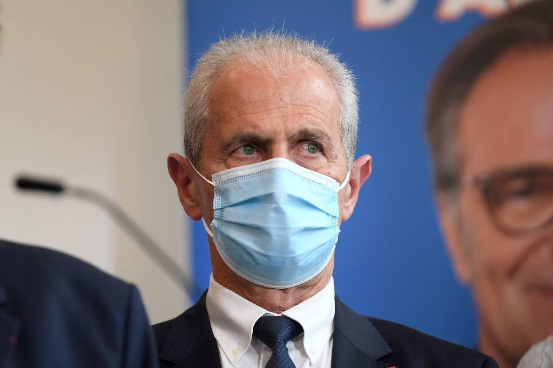 Le maire de Toulon Hubert Falco, le 28 avril 2021 à Marseille