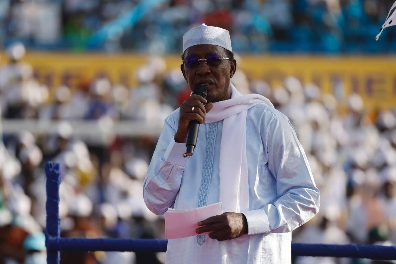 Idriss Déby le 9 avril 2021 à N'djamena