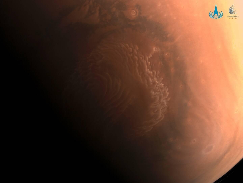 Photo de la planète Mars non datée, prise par la sonde Tianwen-1 et fournie par le Département national chinois de l'espace le 3 mars 2021